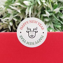 Sticker, happy new year
