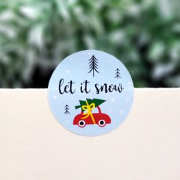 Sticker, let it snow